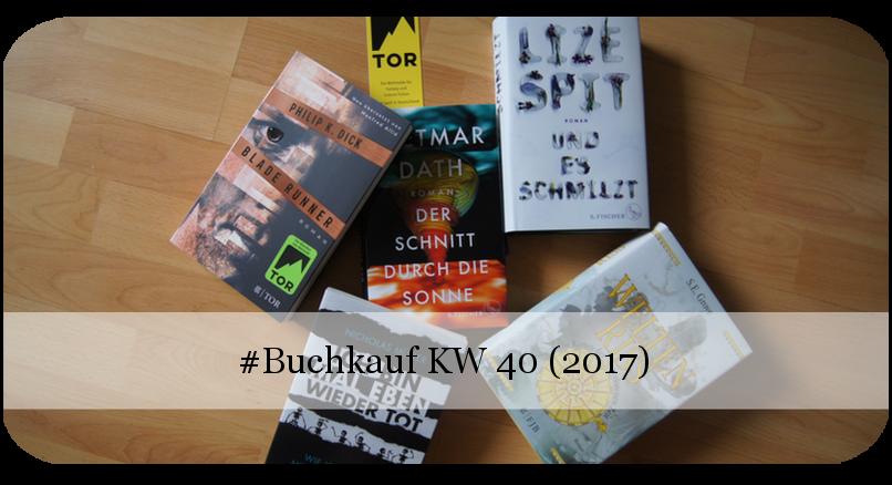 Neue Bücher KW 40 (2017)