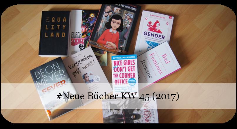 Viele neue Bücher KW 45 (2017)