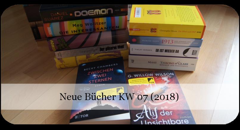 Bücherflohmarkt - neue Bücher KW 07 (2018)