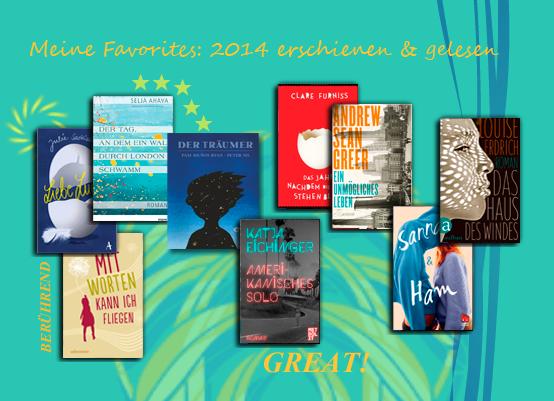 Lieblingsbücher 2014 für den LovelyBooks Leserpreis