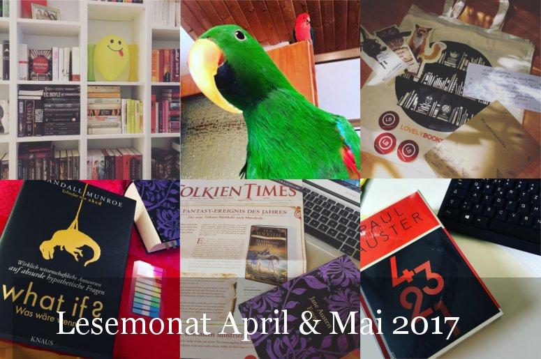 Lesestatistik April und Mai 2017