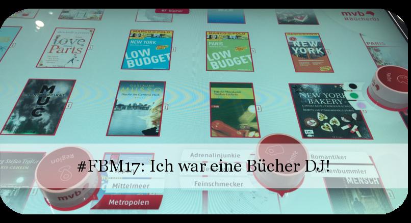 Frankfurter Buchmesse 2017 - #BücherDJ bei VLB-TIX