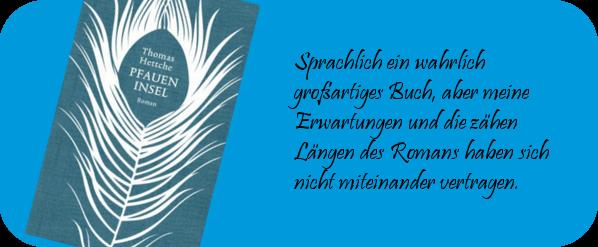 9. BuchSaiten Blogparade Jahresabschluss 2017 Die Pfaueninsel
