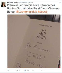 Twitter Lesung Clemens Berger