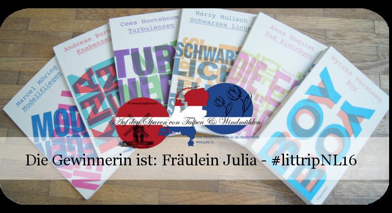 Gewinnerin #littripNL16 Wagenbach-Reihe