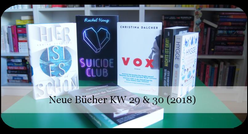 Newin neue Bücher KW 29-30 (2018)
