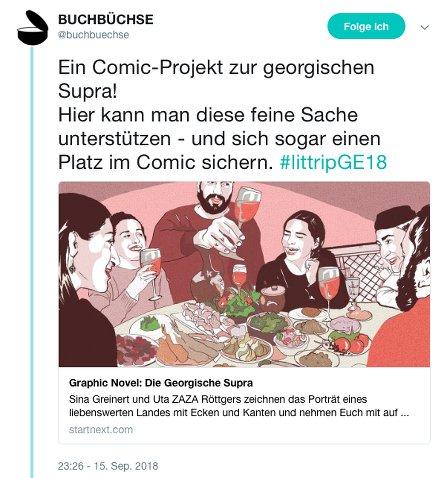 littripGE18 - georgische Supra Buchbüchse Twitter