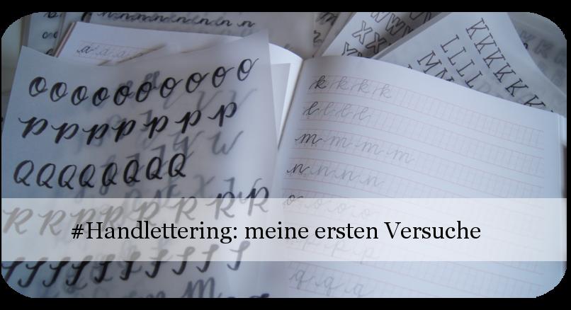 Handlettering Alphabete meine ersten Versuche