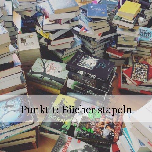 Bücherregal neu sortieren: Punkt 1 - Bücher ausräumen