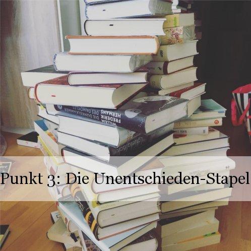 Bücherregal neu sortieren: Punkt 1 - Behalten oder weg?