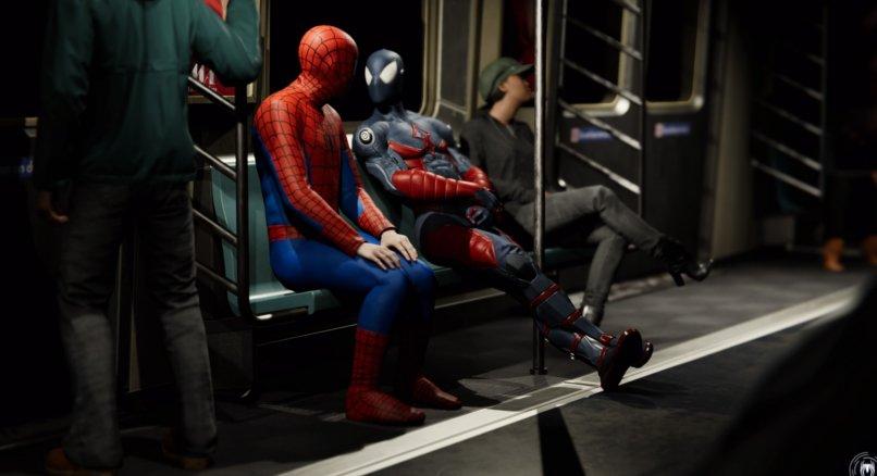 Marvel's Spider-Man in der U-Bahn