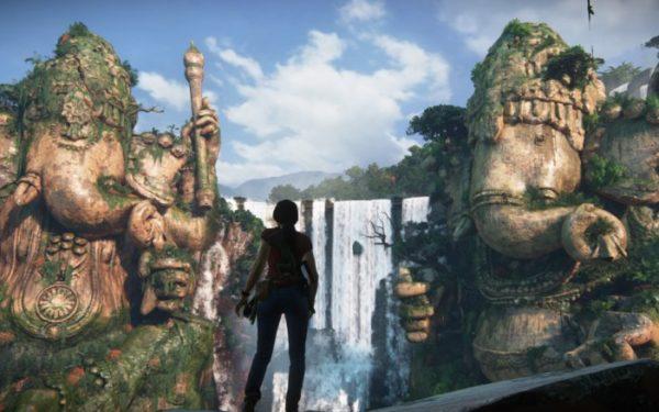 Uncharted: The Lost Legacy - Chloe entdeckt die riesigen Ganesha-Statuen