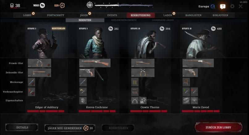 Rekrutierung neuer Jäger:innen in Hunt: Showdown