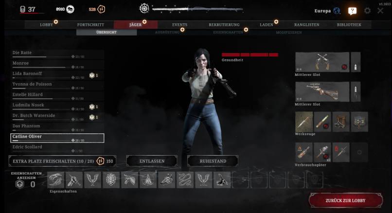 """Eine Jägerin """"Catline Oliver"""" in Hunt: Showdown"""