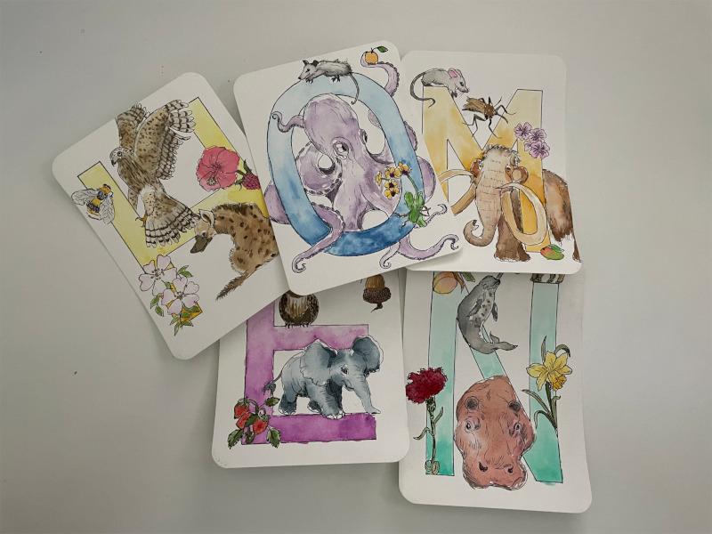 Lieblings-Buchstabenkarten von Zockernautin